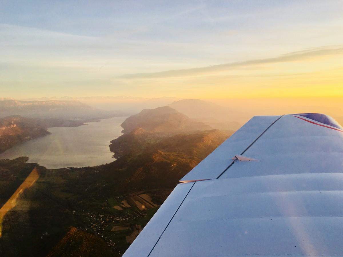 Vol de fin d'après-midi vers Annecy Annecy_12m